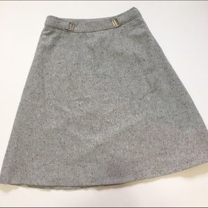 XS Light Gray The Limited Tweed A-line Skirt